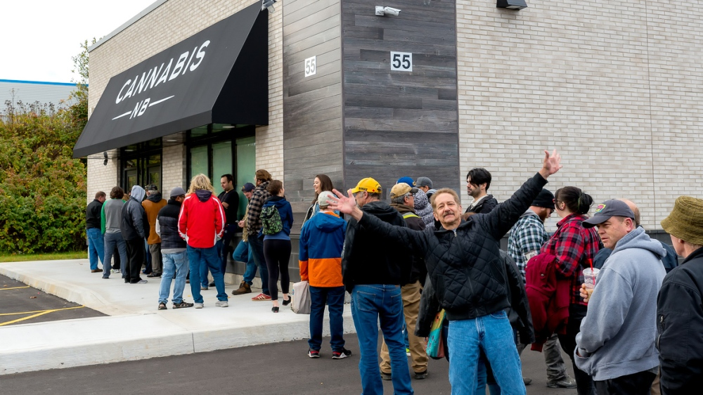 Waiting In Line To Buy Legal Cannabis In Canada
